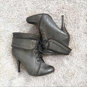 Shoes - Black/Gray Booties